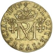 44 Shillings - Mary I (1st Period, 2nd Issue) – reverse