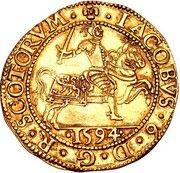 1 Rider - James VI (7th coinage) – obverse