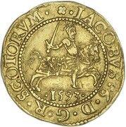 ½ Rider - James VI (7th coinage) – obverse