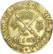 1 Sword and Sceptre Piece - James VI (8th Coinage) – reverse