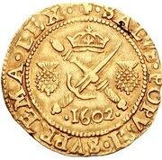 ½ Sword and Sceptre Piece - James VI (8th Coinage) – reverse