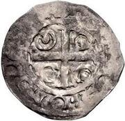 1 Penny - David I (Period B) – reverse