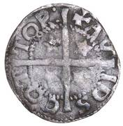 ½ Penny - David II (1st Coinage, 1st Issue) – reverse