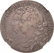 40 Shillings - William & Mary – obverse