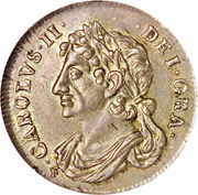 1/16 Dollar - Charles II (2nd Coinage) -  obverse