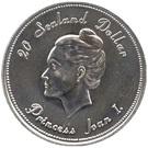 20 Dollars - Roy I (Princess Joan I) – reverse