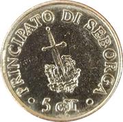 5 Centesimi - Giorgio I – reverse