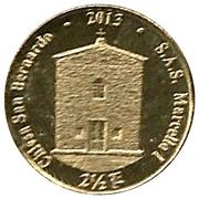 2½ Luigini - Marcello I (St. Bernard Church) – reverse