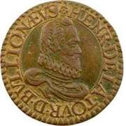 Double Tournois - Henri (5th type) – obverse