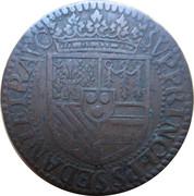 Liard - Henri de La Tour d'Auvergne (6th type, A variety, ruffed) – reverse