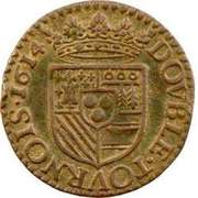 Double Tournois - Henri (5th type) – reverse