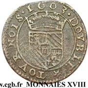 Double Tournois - Henri (4th type) – reverse
