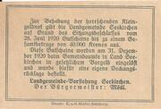 20 Heller (Seekirchen) – reverse