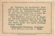 50 Heller (Seekirchen) – reverse