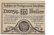 20 Heller (Seitenstetten) -  obverse