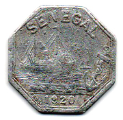 10 Centimes (Rufisque) – obverse