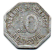10 Centimes (Rufisque) – reverse