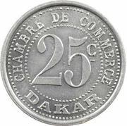25 Centimes (Dakar) – reverse