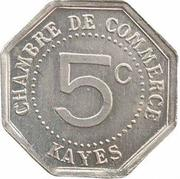 5 Centimes (Kayes) – reverse
