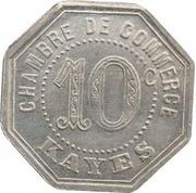 10 Centimes (Kayes) – reverse