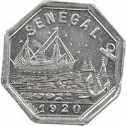 5 Centimes (Rufisque) – obverse