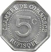 5 Centimes (Rufisque) – reverse