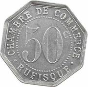 50 Centimes (Rufisque) – reverse