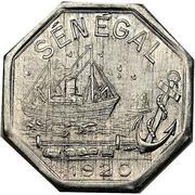 50 Centimes (Dakar) – obverse