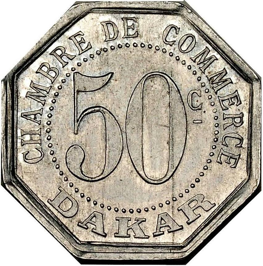 50 centimes dakar senegal numista for Chambre de commerce dakar senegal