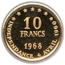 10 Francs (Independence) – reverse