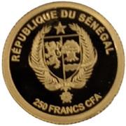 250 Francs CFA (Kick-off in Rome) – obverse