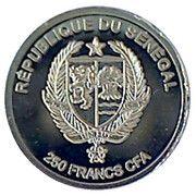 250 Francs CFA  (Benjamin Franklin) – obverse