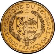 2500 Francs (Eurafrique Program) – obverse