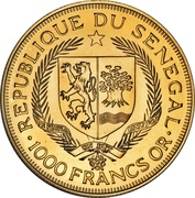 1000 Francs (Eurafrique Program) – obverse