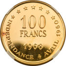 100 Francs (Independence) – reverse