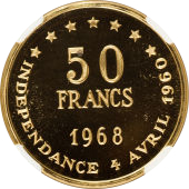 50 Francs (Independence) – reverse