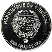 1000 CFA Francs (Galago Senegalensis) – obverse