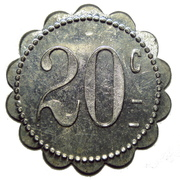 20 Centimes (Keur Boubar) – reverse