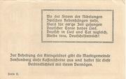 50 Heller (Senftenberg) – reverse