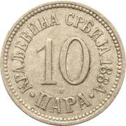 10 Para - Milan I / Aleksandar I / Petar I – reverse