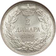 2 Dinara - Milan Obrenović IV – reverse