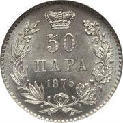 50 Para - Milan Obrenović IV – reverse