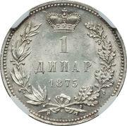 1 Dinar - Milan Obrenović IV – reverse