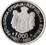 1000 Dinara (Dositej Obradović) – obverse