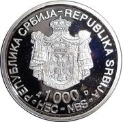 1000 Dinara (Nikola Tesla) – obverse