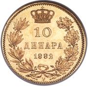 10 Dinara - Milan I – reverse
