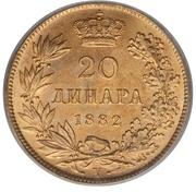 20 Dinara - Milan I – reverse
