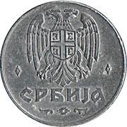 1 Dinar (German Occupation) – obverse