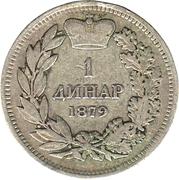1 Dinar - Milan Obrenović IV -  reverse
