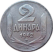 2  Dinara (German Occupation) – reverse